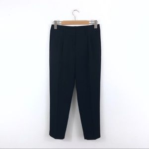 J. Crew Factory Black Tapered Pleated Trousers